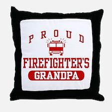 Proud Firefighter's Grandpa Throw Pillow