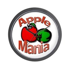 Apple Mania Wall Clock
