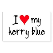 I LOVE MY Kerry Blue Decal