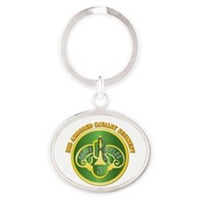 DUI - 3rd Cavalry Rgt with Text Oval Keychain