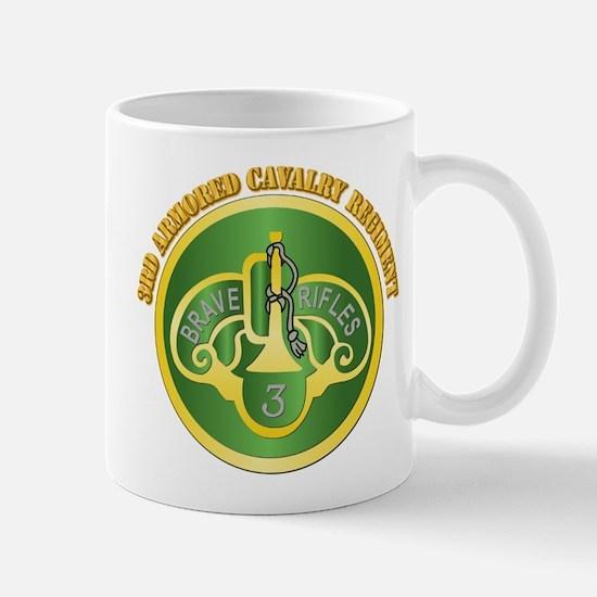 DUI - 3rd Cavalry Rgt with Text Mug