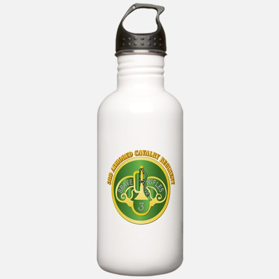 DUI - 3rd Cavalry Rgt with Text Water Bottle