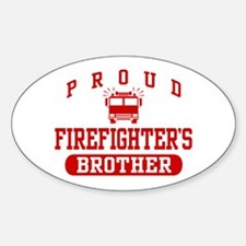Proud Firefighter's Brother Oval Decal