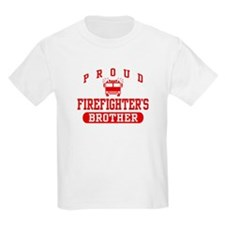 Proud Firefighter's Brother Kids T-Shirt
