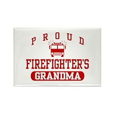 Proud Firefighter's Grandma Rectangle Magnet