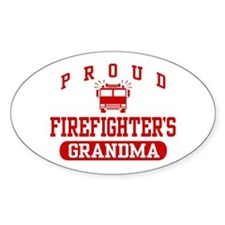 Proud Firefighter's Grandma Oval Decal