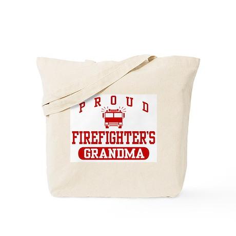 Proud Firefighter's Grandma Tote Bag
