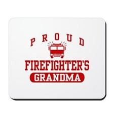 Proud Firefighter's Grandma Mousepad