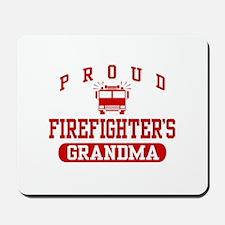 Proud Firefighter's Grandma Mousepad