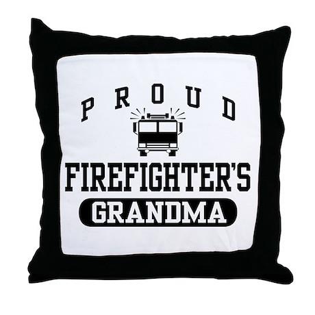 Proud Firefighter's Grandma Throw Pillow
