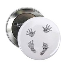 """Baby Hands and Feet Leslie Harlow 2.25"""" Button"""