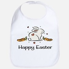Easter bunny with carrots Bib