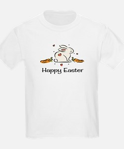 Easter bunny with carrots Kids T-Shirt