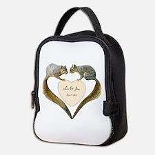 Love Squirrels Doily Neoprene Lunch Bag