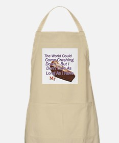The World Could Come Crashing BBQ Apron