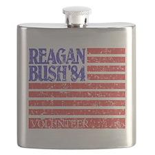 Reagan 84 Volunteer Flask