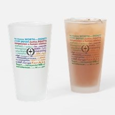 UU 7 Principles Drinking Glass