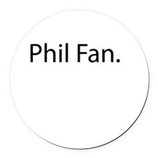 Phil Fan Round Car Magnet