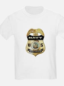 U S Navy Customs Badge T-Shirt
