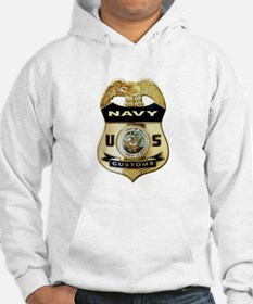 U S Navy Customs Badge Hoodie