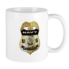 U S Navy Customs Badge Mugs