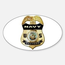 U S Navy Customs Badge Decal