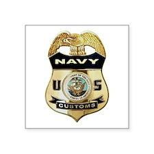 U S Navy Customs Badge Sticker