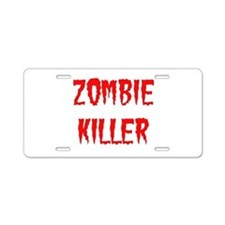 Zombie Killer Aluminum License Plate