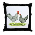 Barred Hollands Throw Pillow