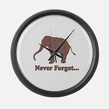 Elephant Never Forget Dinosaur Large Wall Clock