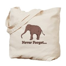 Elephant Never Forget Dinosaur Tote Bag