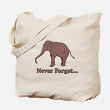 Elephant Never Forget Dinosaur Tote Bag