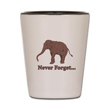 Elephant Never Forget Dinosaur Shot Glass
