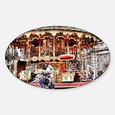 Carousel in Montmartre Sticker (Oval)