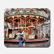 Carousel in Montmartre Mousepad