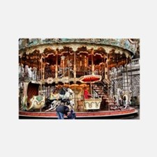 Carousel in Montmartre Rectangle Magnet