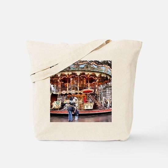 Carousel in Montmartre Tote Bag