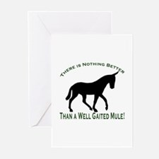 Nothing Better Gaited Mule Greeting Cards (Package