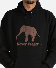 Elephant Never Forget Dinosaur Hoodie