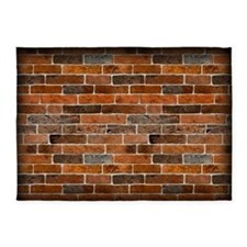 Brick Wall 5'x7'Area Rug