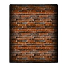 Brick Wall Throw Blanket