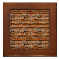 Brick Wall Framed Tile