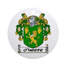 O'Keefe Coat of Arms Ornament (Round)