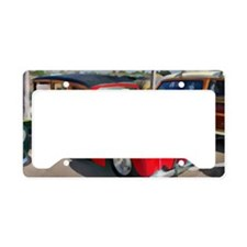 Paneled Woody Classic Surf Ca License Plate Holder