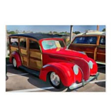 Paneled Woody Classic Sur Postcards (Package of 8)