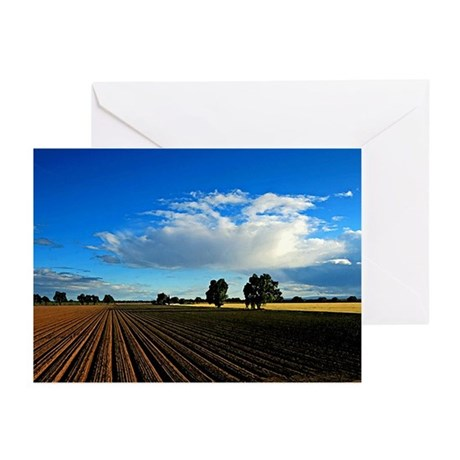 Wide Open Plains Greeting Cards