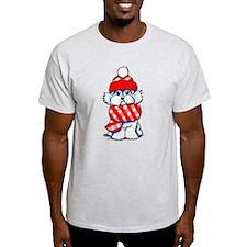 Maltese Plaid Scarf T-Shirt