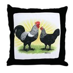 Iowa Blue Chickens Throw Pillow