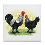 Iowa Blue Chickens Tile Coaster