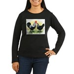 Iowa Blue Chickens Women's Long Sleeve Dark T-Shir